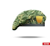 Military Camouflage Beret Special Forces Stock Photo