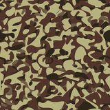Military camouflage brown pattern Stock Image