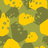 Military camouflage cheese. Cheesy army texture for clothing. Pr Stock Photography