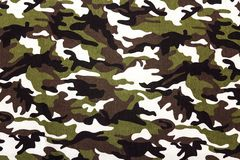 Military camouflage cloth pattern background. Place for text Stock Image