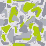 Military camouflage covers pattern. Fashion Style Design gray with light green. Abstract geometric seamless military camouflage covers pattern. Fashion Style stock illustration