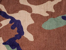 Military camouflage fabric Royalty Free Stock Photography