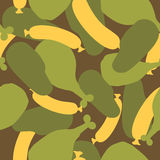 Military camouflage food. Meat texture for Army clothing. Hunter Stock Image