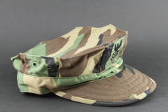 Military camouflage hat Royalty Free Stock Image