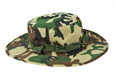 Military camouflage hat desert. Isolated on white background Royalty Free Stock Photography