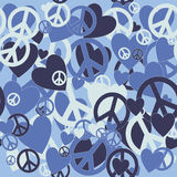 Military Camouflage Love and Pacifism sign Royalty Free Stock Image