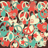 Military Camouflage Love and Peace sign Royalty Free Stock Photos