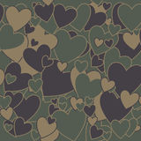 Military Camouflage Love Stock Images