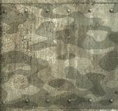 Military camouflage painted metal armor background Royalty Free Stock Image