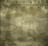 Military camouflage painted metal armor background Stock Images