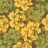 Military camouflage rose. Flowers texture for Army clothing. Hun Stock Photos