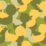 Military camouflage rubber ducks. Military Vector texture. Royalty Free Stock Photos