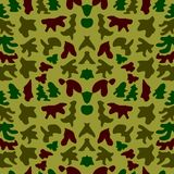Woodland hunting camoflauge seamless pattern. Military camouflage seamless pattern army day background and garment graf new uniform Royalty Free Stock Photos
