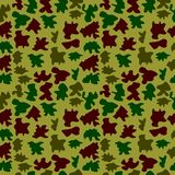 Woodland hunting camoflauge seamless pattern. Military camouflage seamless pattern army day background and garment graf new uniform Stock Photography