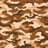 Military camouflage seamless pattern, beige brown color. Vector. Illustration vector illustration