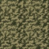 Military Camouflage Seamless pattern, Hexagonal grid background. Stock Photo