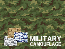 Military camouflage seamless pattern. For textile garment, T-shirt, Printing, Background, Wallpaper, Decoration, Vector illustration Stock Photos