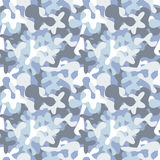 Military camouflage seamless pattern to disguise in snow Stock Image