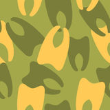 Military camouflage from teeth. Stock Images