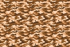 Military camouflage texture, beige brown color. Vector Royalty Free Stock Photos