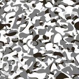 Military camouflage winter pattern Royalty Free Stock Photos