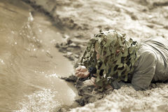 Military Camouflaged man Stock Images