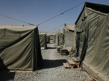 Military camp. Camp of military in afghanistan Royalty Free Stock Images
