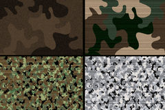 Military camuflage design texture colors collage Stock Photography