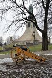 Military cannon and memorials, Czech Republic Royalty Free Stock Photo