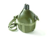 Military canteen Stock Image