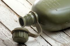 Military canteen Stock Images