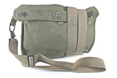Military canvas bag Stock Image