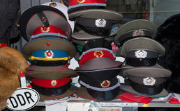Military caps Stock Photography