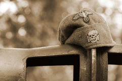 Military caps Wehrmacht Stock Images
