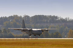 Military cargo airplane Stock Photos