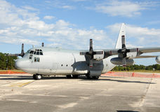 Military cargo airplane Royalty Free Stock Photography
