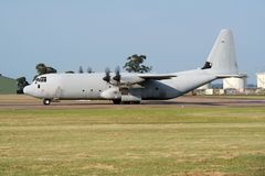 Military cargo plane Royalty Free Stock Image