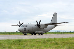 Military cargo plane stock photography