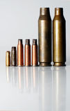 Military cartridge case Royalty Free Stock Images