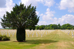 Military Cementery in France Royalty Free Stock Photo