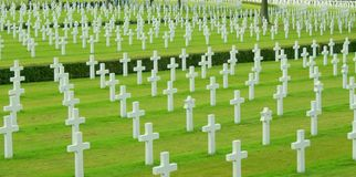 Military cemetary. A shot of a world war two military cemetary Royalty Free Stock Photography