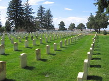 Military Cemetary. At the Little Big Horn in Montana Stock Photos