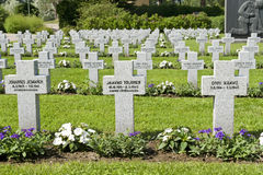Military cemetery Stock Photo