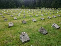 Military cemetery, Bovec, Slovenia. Stock Photo