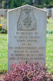 Grave Harry Potter Old military cemetery Royalty Free Stock Photo