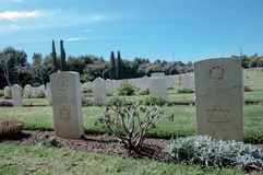 Old military cemetery gravestones Israeli soldiers Stock Photography