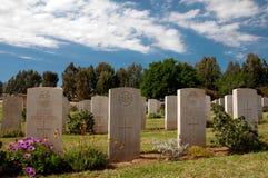 Military cemetery gravestones Stock Image
