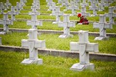 Military cemetery crosses Stock Photo