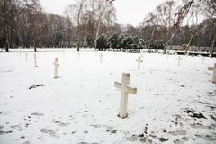 Military cemetery Royalty Free Stock Images