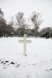 Military cemetery. Czech military cemetery in prague, military cemetery in winter Royalty Free Stock Image